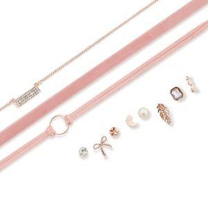 Jewelry - Trio Choker Set with Stud Earrings